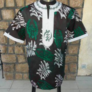 Chemise homme Batik brodée